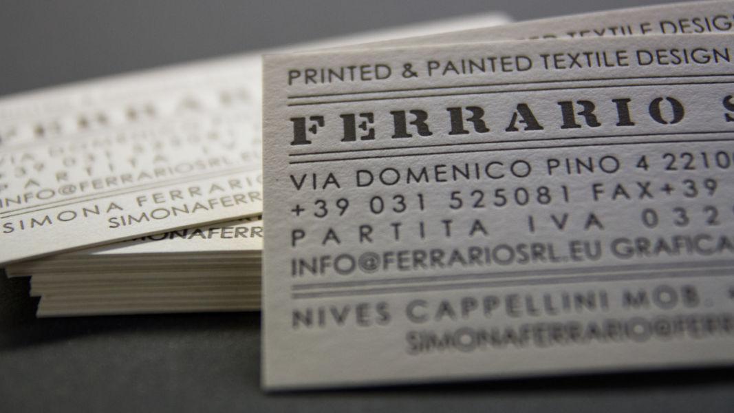 biglietto da visita - letterpress